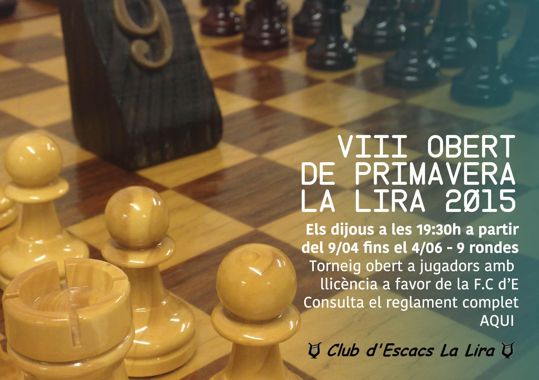 VIII TORNEIG OBERT DE PRIMAVERA LA LIRA 2015