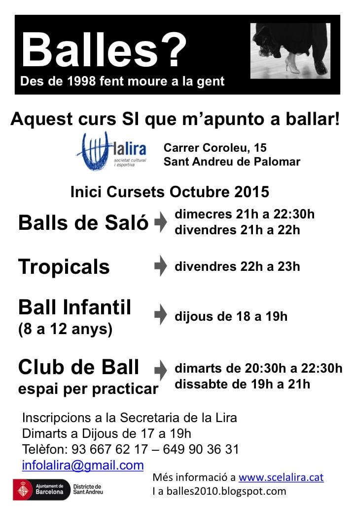 NOUS CURSOS DE BALL A LA LIRA: BALLES?